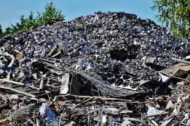 Besi Scrap gambar logam bahan puing limbah tempat barang rongsokan