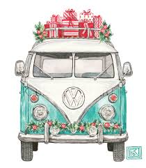 vw volkswagen greeting cards classic car