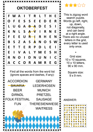 oktoberfest zigzag word search puzzle free printable puzzle games