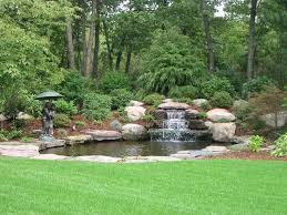 Backyard Water Falls by Backyard Waterfall Traditional Landscape Boston By Leonard