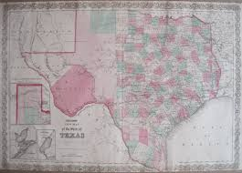 Map Of The State Of Texas Antique Maps Of Texas