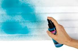 add a blast of color with fabric spray paint threads