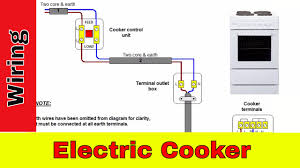 how to wire an electric cooker uk youtube