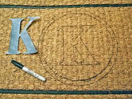 K Flooring by Floor Diy Monogrammed Door Mat Design Ideas With Cool K Letter