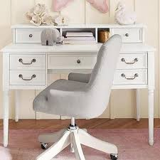 White Desk With Hutch And Drawers White Simple Desk The Land Of Nod