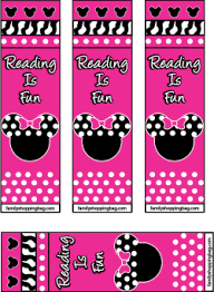 minnie bookmarks mickey mouse bookmarks free printable ideas