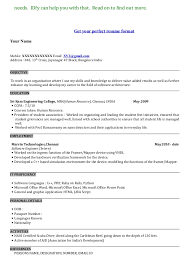 mba resume sample format