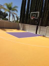 Backyard Basketball Court Ideas by The Picture Shows The Lakers Theme Half Court And Pro Dunk