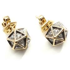 gold stud earings icoso diamond gold stud earring