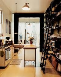 minimalist kitchen deisgn with wooden countertop unique pendant