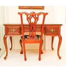 Cherry Wood Desk Gibbard Craftsman Cherry Wood Queen Anne Desk And Chair Ebth