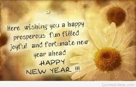happy new year properous wish quote for friends 2016