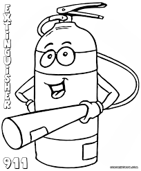 fire extinguisher coloring pages coloring pages to download and