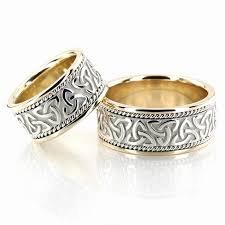 celtic wedding rings his and hers gold wedding rings 15 inspirations of celtic