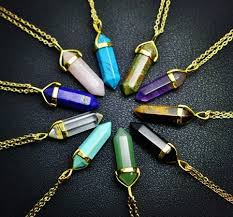quartz necklace aliexpress images Buy new fashion jewelry natural quartz stone jpg