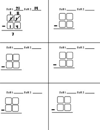 double digit subtraction with and without regrouping dice game by