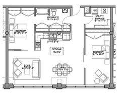 Small House Plans With Loft Bedroom - first floor plan of a frame vacation house plan 99961 wow