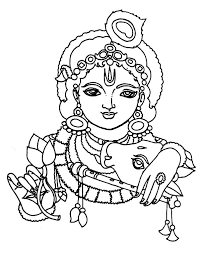 drawing lord krishna coloring pages drawing lord krishna coloring