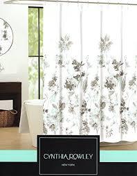 Botanical Shower Curtains Cynthia Rowley Giacomo Cotton Fabric Shower Curtain