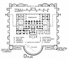 baths of caracalla floor plan plan of the baths of diocletian illustration ancient history