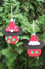 disney craft mickey and minnie caramel apple ornaments