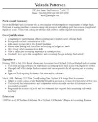 Sample Resume Accountant by 28 Hedge Fund Accountant Resume Resume Sample Portfolio