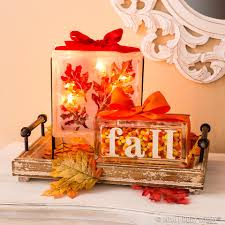 fall glass blocks via hobby lobby autumn décor u2026 pinteres u2026