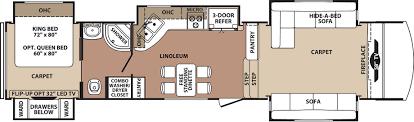 Forest River 5th Wheel Floor Plans Blue Ridge Fifth Wheels Trailers Floor Plans Access Rv