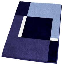 Posh Luxury Bath Rug Navy Bath Mat Envialette