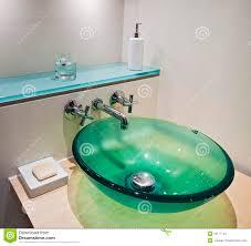 glass bowl hand wash basin stock image image 15177741