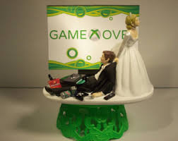 gamer wedding cake topper gaming cake topper etsy