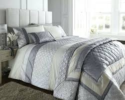 Margaret Muir Comforter Light Grey Duvet Cover Double Bed Silver Grey Cream Duvet Cover