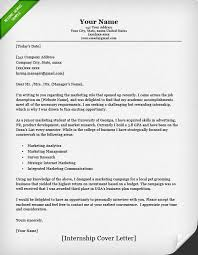 example cover letter for internship 2330