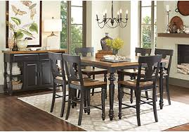 cottage dining room sets hillside cottage black 5 pc counter height dining room traditional