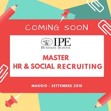 si e social master in hr e social recruiting ipe istituto per ricerche ed