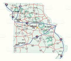 St Louis Mo Map Missouri State Interstate Map Stock Vector Art 108616036 Istock