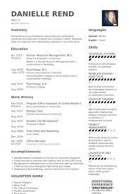 Resume Sample For Front Desk Receptionist by Office Assistant Resume Samples Visualcv Resume Samples Database