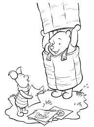 pictures of winnie the pooh characters colouring pages free