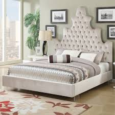 awesome high headboard bed black leather bed with tall tufted