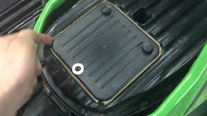 how to remove air filter on 2011 arctic cat 450 youtube