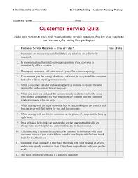 Resume Writing Quiz Customer Service Quiz