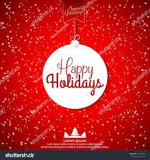 happy holidays abstract christmas ball vector stock vector