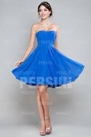 robe de mariã e bleue robe pour cocktail de mariage courte bustier ruché en mousseline