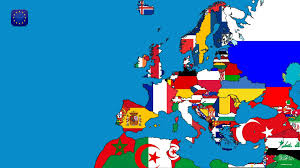 a map of europe with countries map europe countries sea flag wallpaper and background