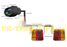 6 wire round trailer wiring diagram throughout 7 way connector and