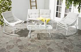 White Patio Chair Furniture Sturdy And Comfortable White Patio Furniture Berkane 4