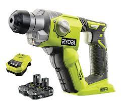 ryobi one r18sds 2bc13 18v cordless sds rotary hammer drill with