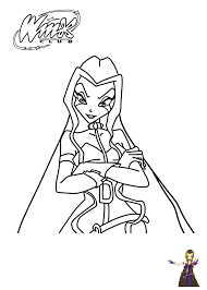 winx club darcy coloring pages for girls winx club coloring