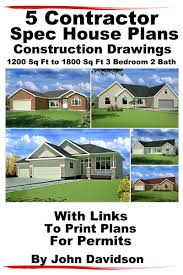 5 contractor spec house plans blueprints construction drawings