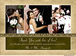 photo appreciation wedding thank you cards gold